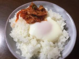 温泉卵キムチ